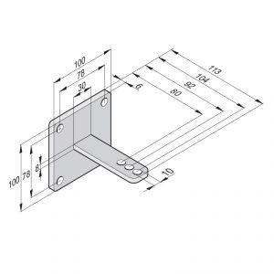 Sommer Torpfostenbeschlag 50/104 Standard 2251V000 - Adams Tore & Antriebe - Sommer, Wisniowski, Hörmann Vertragshändler