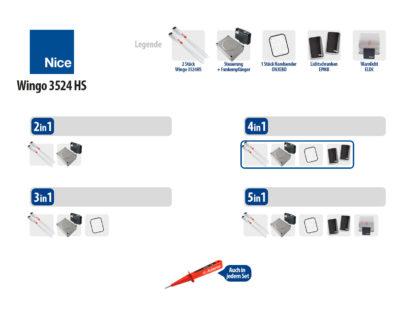 Nice WINGO 3524HS KIT Drehtorantrieb 2-flüglig Set 4in1 HI-SPEED - Adams Tore & Antriebe - Sommer, Wisniowski, Hörmann Vertragshändler