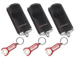 3x Hörmann HSE1 BS Schwarz Matt 1-Befehl Handsender BiSecur 868 Mhz 4511730 - Adams Tore & Antriebe - Sommer, Wisniowski, Hörmann Vertragshändler