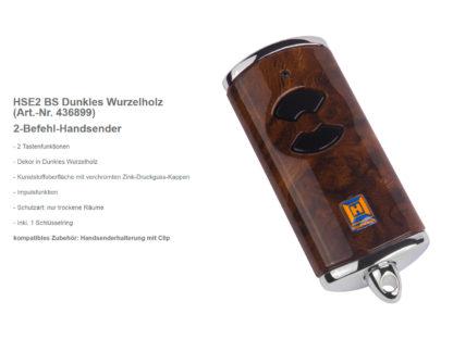 Hörmann HSE2 BS Dunkles Wurzelholz 2-Befehl Handsender BiSecur 868 Mhz 436899 - Adams Tore & Antriebe - Sommer, Wisniowski, Hörmann Vertragshändler