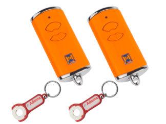 2x Hörmann HSE2 BS Orange 2-Befehl Handsender BiSecur 868 Mhz 436878 - Adams Tore & Antriebe - Sommer, Wisniowski, Hörmann Vertragshändler