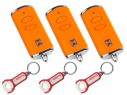 3x Hörmann HSE2 BS Orange 2-Befehl Handsender BiSecur 868 Mhz 436878 - Adams Tore & Antriebe - Sommer, Wisniowski, Hörmann Vertragshändler