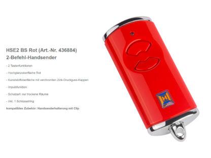 Hörmann HSE2 BS Rot 2-Befehl Handsender BiSecur 868 Mhz 436884 - Adams Tore & Antriebe - Sommer, Wisniowski, Hörmann Vertragshändler