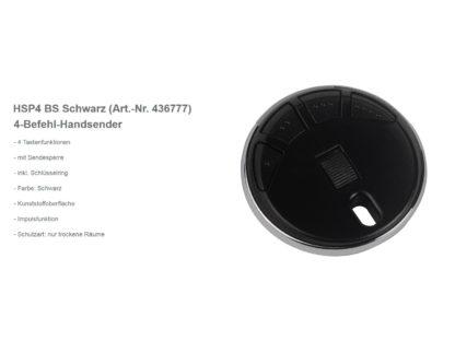 Hörmann HSP4 BS 4-Befehl Handsender BiSecur 868 Mhz 436777 - Adams Tore & Antriebe - Sommer, Wisniowski, Hörmann Vertragshändler