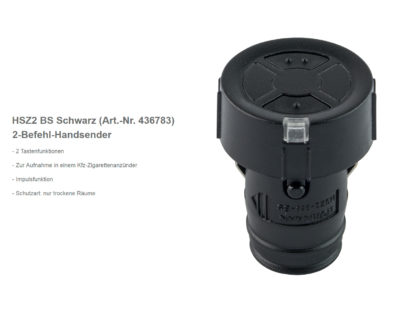 Hörmann HSZ2 BS 2-Befehl Handsender BiSecur 868 Mhz 436783 - Adams Tore & Antriebe - Sommer, Wisniowski, Hörmann Vertragshändler