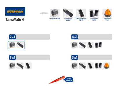 Hörmann LineaMatic H BiSecur Serie 3 Schiebetorantrieb 800kg Set 2in1 - Adams Tore & Antriebe - Sommer, Wisniowski, Hörmann Vertragshändler