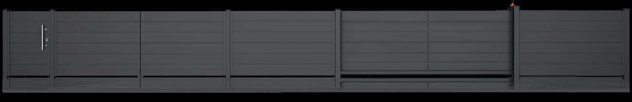 Wisniowski Zaunfelder Muster HOME INCLUSIVE AW.10.200 Paneel 250mm - Adams Tore & Antriebe - Sommer, Wisniowski, Hörmann Vertragshändler