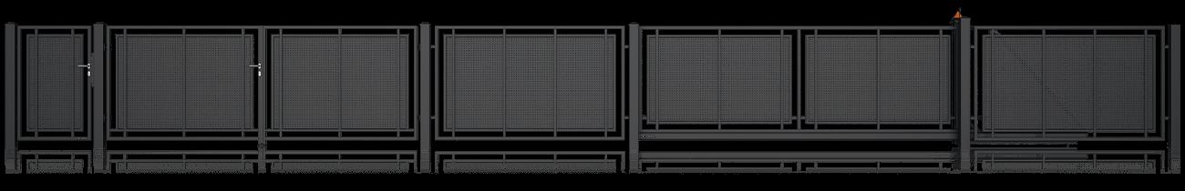Wisniowski Zweiflügeltor Muster MODERN AW.10.101/P - Adams Tore & Antriebe - Sommer, Wisniowski, Hörmann Vertragshändler
